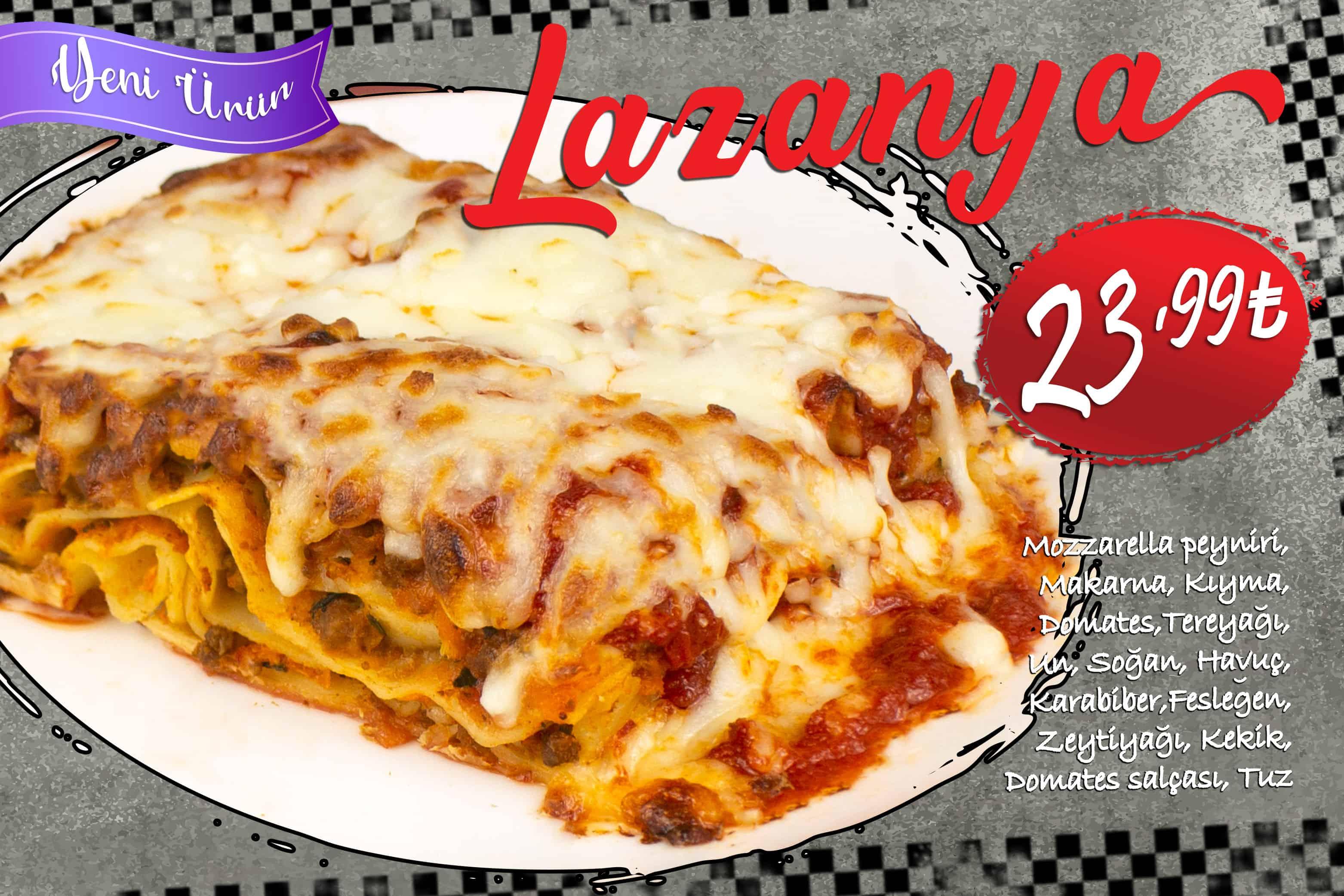 Lazanya ( ▶️ Yeni Ürün)