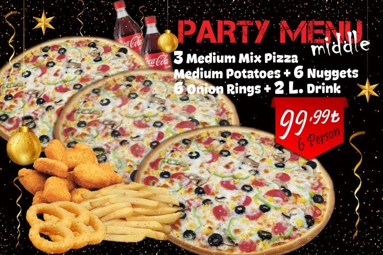 Party Menu (Medium)