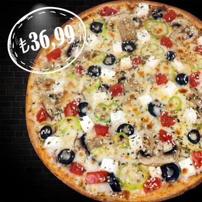 Whole Wheat Medium Mediterranean Pizza (2 Person)